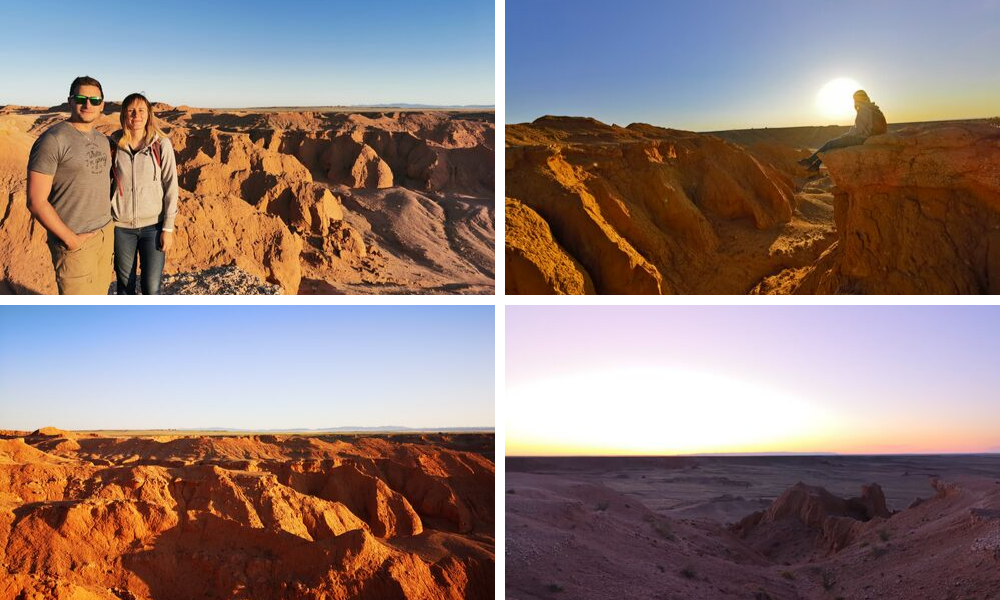 Flaming cliffs Gobi